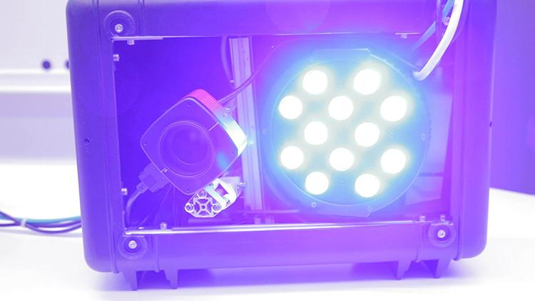 Photo of the light AutoDet imaging system.